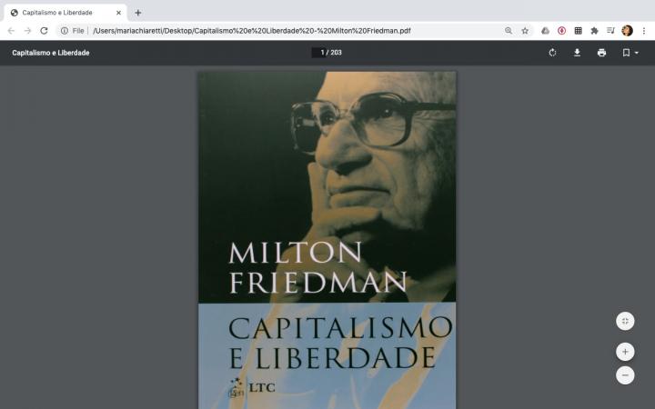 [Conteúdo] Trecho de Capitalismo e liberdade